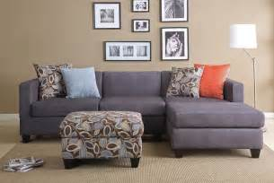 Apartment Sectional Sofa Grey Walls Blue Accents Home Decorating Inspirations
