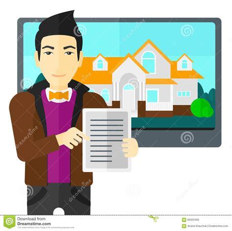 offerta acquisto casa casa d offerta dell agente immobiliare illustrazione
