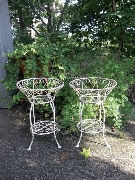 Wrought Iron Garden Decor Vintage Garden Decor Wrought Iron And Plant Stands On Pinterest
