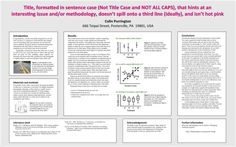 poster design advice creating academic posters mhc