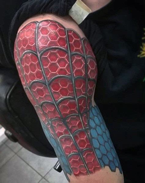 spider man tattoos 100 design ideas for webs of ink