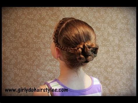 hairstyles for long hair for competition dancer hairstyle braids and bun youtube
