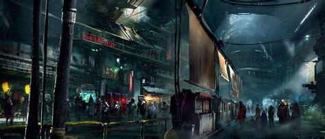 cyberpunk city concept environment sci fi concept art janurschel black market cyberpunk deviantart and