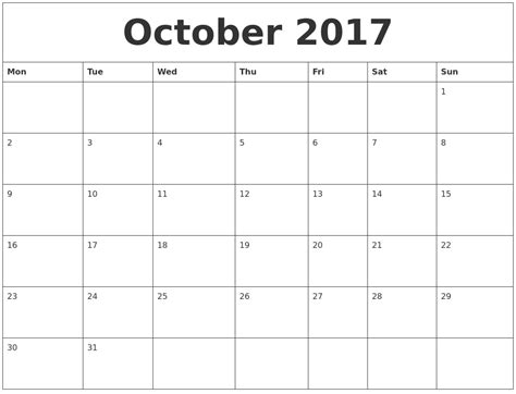 printable october 2017 calendar with holidays october 2017 printable calendar template holidays excel