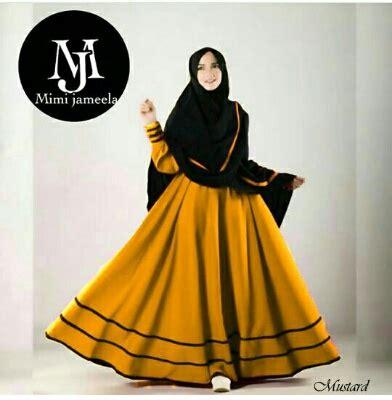baju gamis riesta syari a160 busana muslim modern