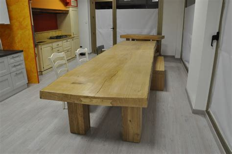 tavoli in legno naturale tavolo in asse unica fadini mobili cerea verona