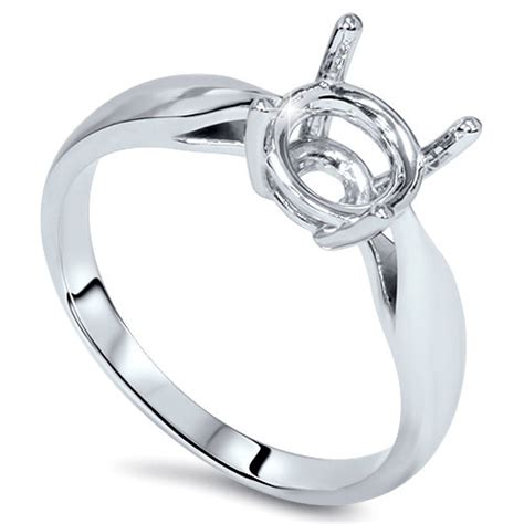 solitaire engagement semi mount ring setting mounting 14