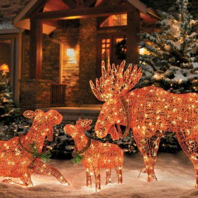 moose 60 inch lighted outdoor display lighted moose decorations improvements