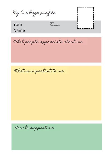 one page profile templates helen sanderson associates