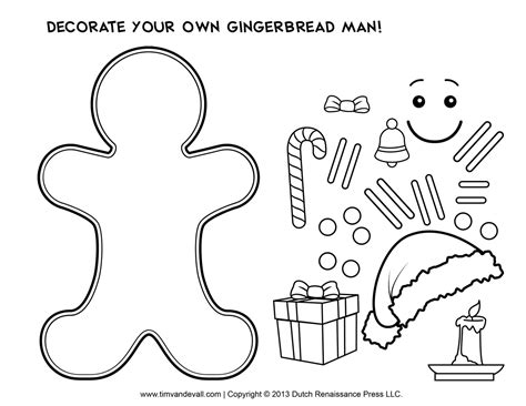 templates for children gingerbread template clipart coloring page for