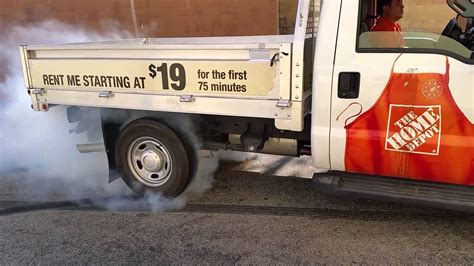 home depot rental truck burnout