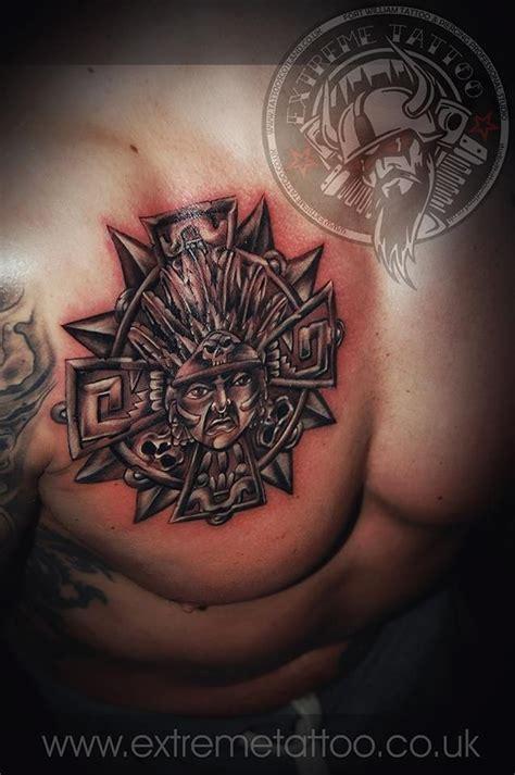2 extreme tattoos ta aztec tribal tattoo on chest gabi tomescu extreme tattoo