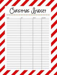 christmas budget free printable 25 days to an organized