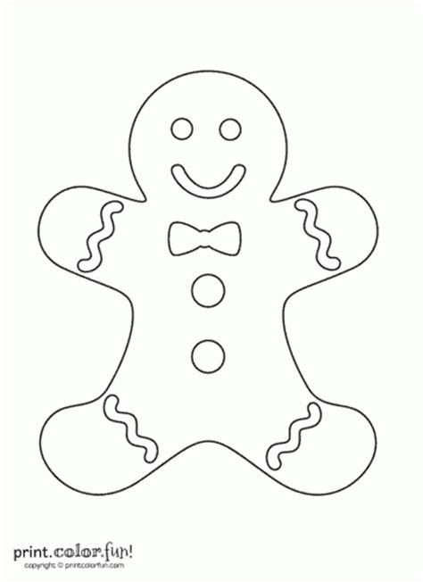 gingerbread man coloring page blank free coloring pages
