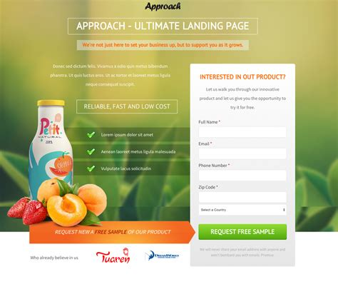 lead pages templates top 20 of the best landing pages for lead generation