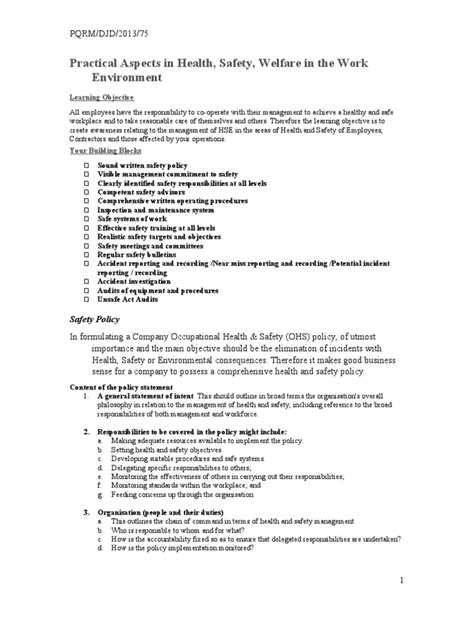 health and safety statement of intent template exelent health and safety statement of intent template
