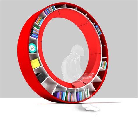 circular walking bookshelf pictures photos and images