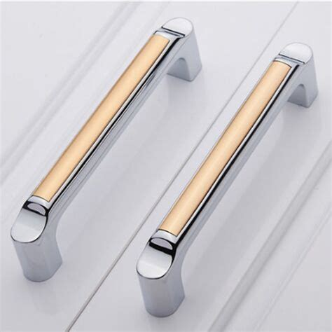 Kitchen Cabinet Door Pulls Aliexpress Buy 128mm Silver White Kitchen Cabinet Handle Chrome Dresser Cupboard Pulls
