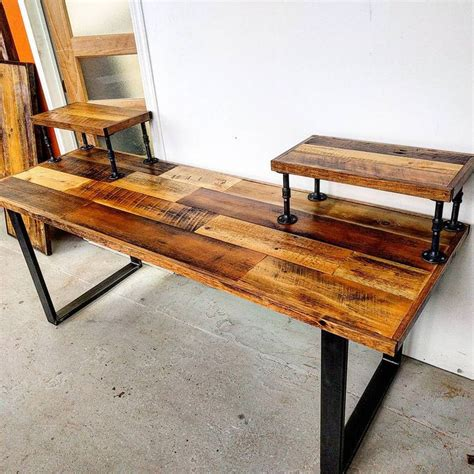 Handcrafted Timber Furniture - custom audio engineering desk by barnboardstore this