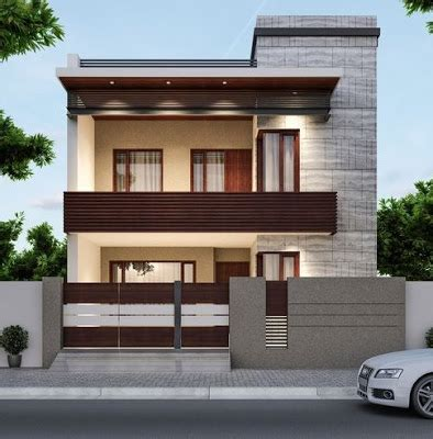 modern house front designs  exterior wall decoration