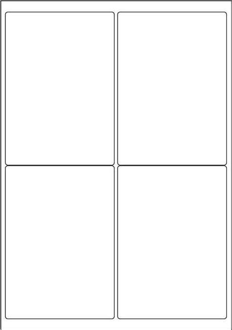 Label Template 4 Per Sheet Printable Label Templates 1 X 4 Inch Label Template