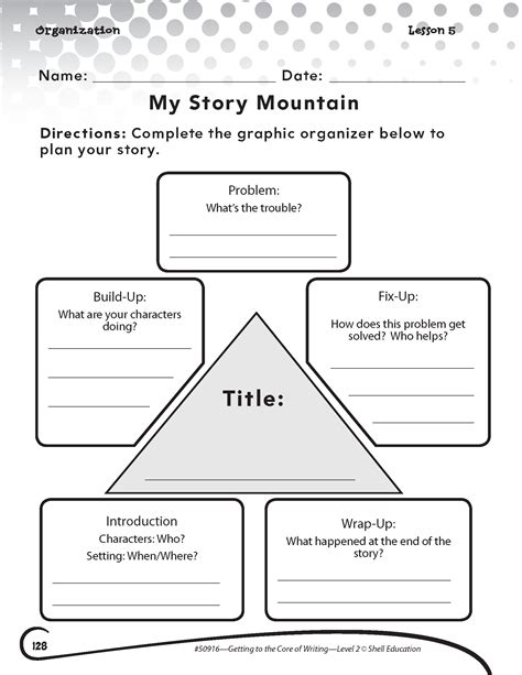 my story template quot my story mountain quot activity from getting to the of