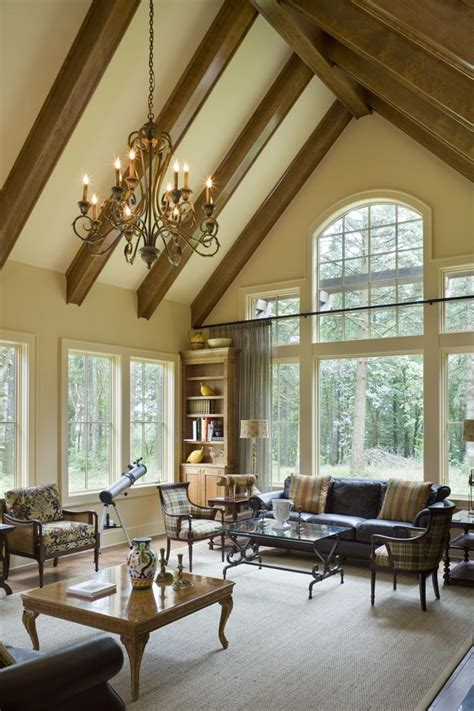 cathedral ceiling great room house plans
