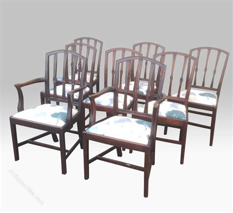 eight mahogany period antique dining chairs antiques atlas