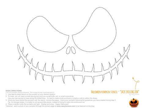 nightmare before pumpkin template casey henson pumpkin carving stencils
