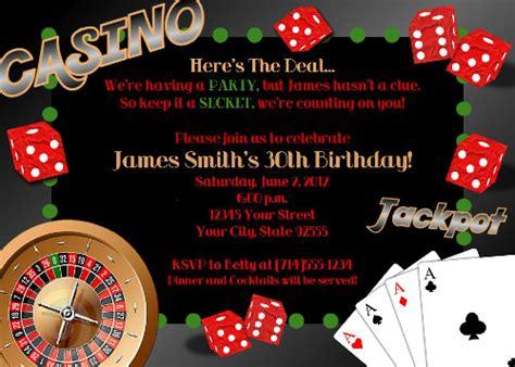 Casino Birthday Party Invitations Ideas Bagvania Free Printable Invitation Template Casino Invitation Template Free
