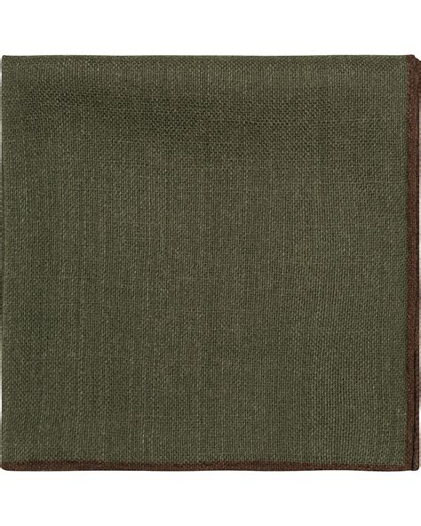 Plain Square Olive by S Wool Plain Pocket Square Olive Hos Careofcarl