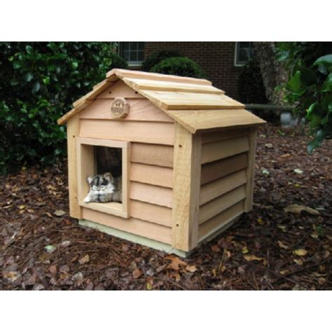 the cat house 20 inch cedar cat house