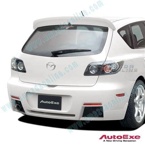 Cover Mazda Mazda 3 autoexe rear bumper cover aero kit for 03 09 mazda3 bk