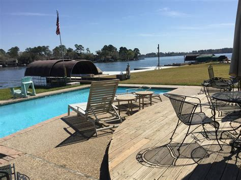 lake conroe rentals with boat dock awesome waterfront home on lake conroe w pool walden golf