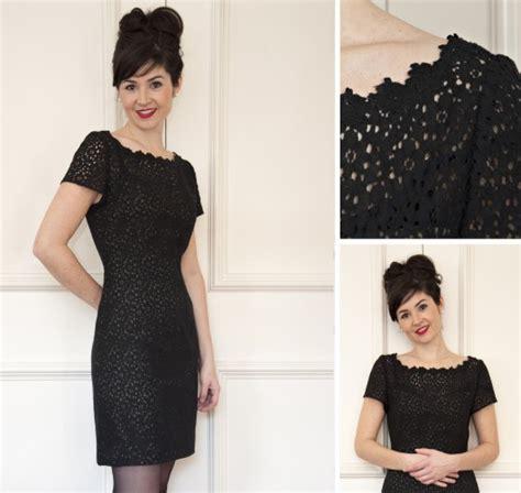 pattern for black lace dress colette patterns dahlia clarinda kaleidoscope