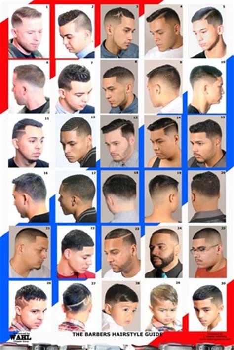 boy hair cut length guide 2014hm men s hairstyles barber poster