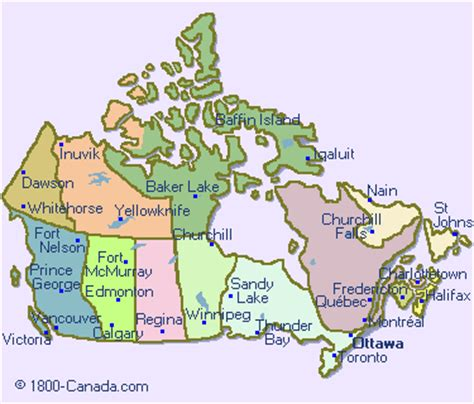 canadian map with cities map major cities in canada