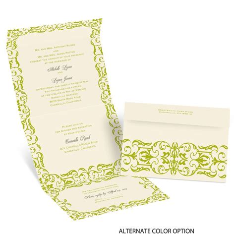 Damask Wedding Invitations by Damask Accents Seal And Send Invitation Invitations By
