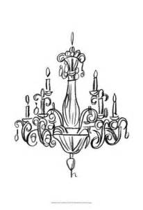 chandeliers drawing graphic chandelier i prints by ethan at allposters