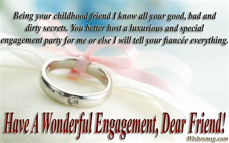 Wedding Wishes Letter For Best Friend by Best Engagement Wishes And Quotes For Friend Wishesmsg