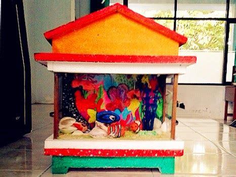 membuat rumah dari styrofoam prakarya cara membuat quot miniatur aquarium quot dari kertas
