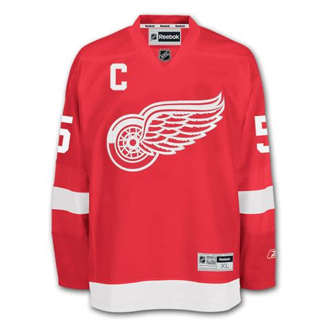 nicklas lidstrom detroit wings reebok premier replica