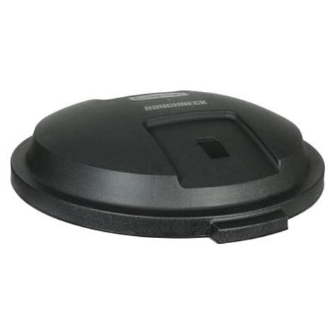 Home Depot Lid by Rubbermaid Roughneck 32 Gal Black Trash Can Lid 1907855