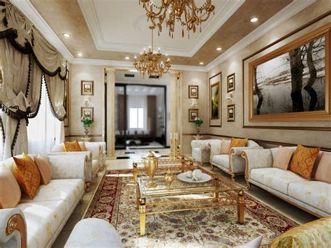 Galerry design living room gold
