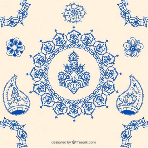 indian ornaments indian ornaments vector free