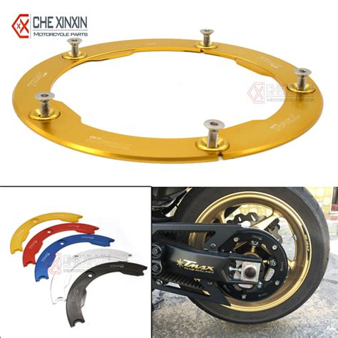 Cover Belt Yamaha Tmax Transmission Pulley Brand Dmv new arrival gold motorcycle transmission belt pulley cover for yamaha tmax 530 2012 2015 t max