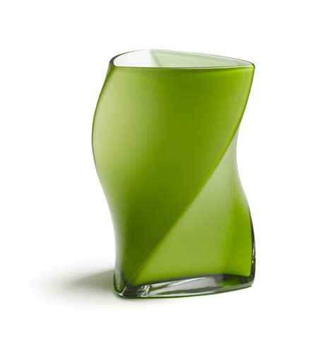 Green Vases by Piet Hein Vase 24 Cm Lime Green