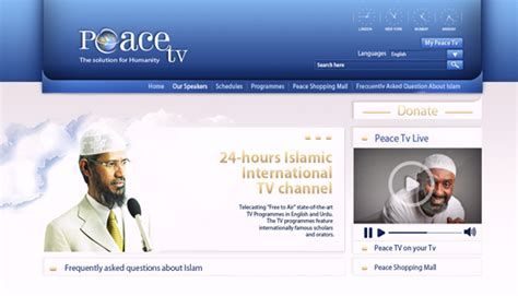 design net tv web design london company for peace tv london web