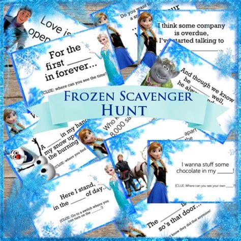 printable frozen scavenger hunt frozen party game scavenger hunt digital download