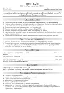 Graduate Resume Template by Graduate School And Post Graduate Resume Exles